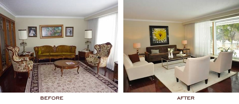 Property Staging Before and After